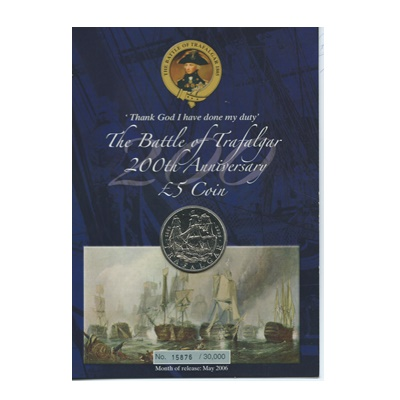2005 BU Crown - The Battle of Trafalgar (Presentation Card)